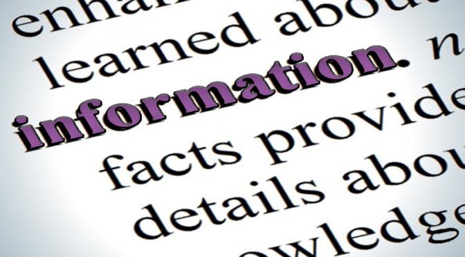 APRIL A TO Z BLOGGING CHALLENGE: Information